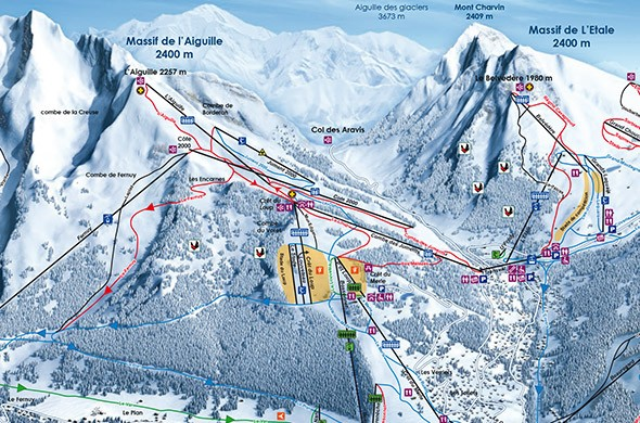 Alpine skiing maps