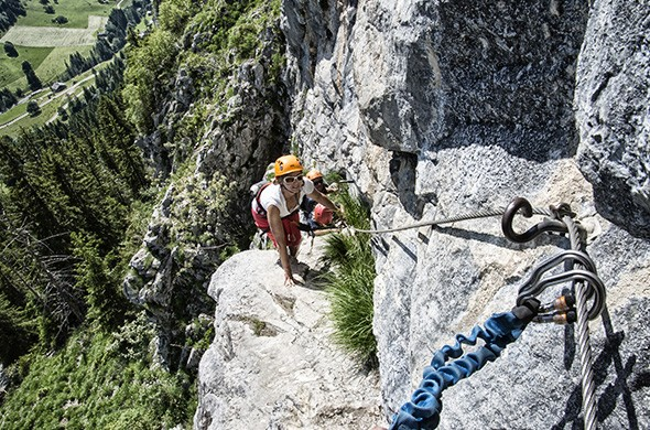 Climbing area and via ferrata