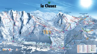 Alpine skiing area map